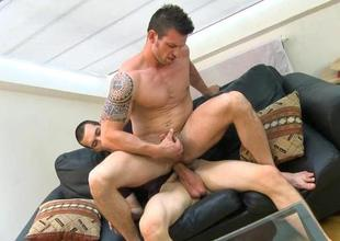 Choosing lad is riding on studs pecker tenaciously