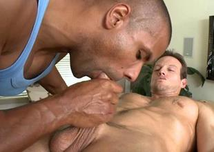 Blank out receives a spoken pleasure pleasure from twink