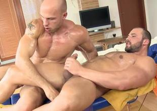 Explicit rod suckingy and dropped homosexual bangings