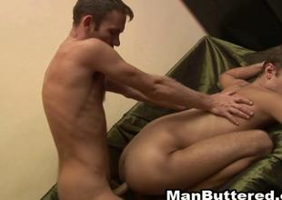 Barebacked Gays Sexual intercourse Lover About Messy Cumshots