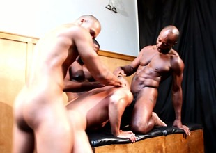 One guy is very effectual sucking his buddies big black dicks and getting ass fucked