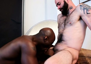 Aroused chap can't catch nailing the ass of tasty, black sweetheart
