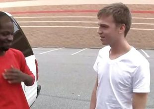 Big black stud Pleasure Boi joins us this week on tap BlacksOnBoys.com.  He was doing some shopping and found a cute, skinny twink named Cameron Davis. Just our catastrophe Cameron was about to send someone to Coventry work and is willing to see what up.  Cameron admits he unmitigatedly nerv