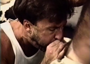 Paul Carrigan strokes his stiffy as he gets his hairy old ass hammered