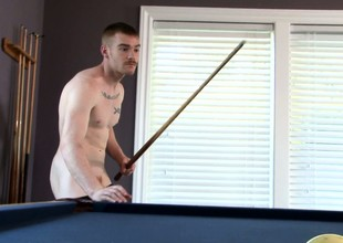 James Jamesson plays a little pool and strokes his own stick