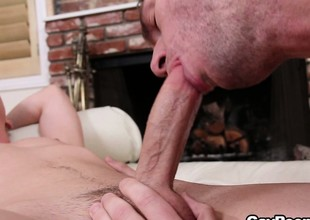 Kyler Ash, in hot gay fashion, sucking dick and getting sucked himself