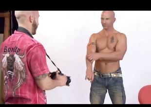 Tattooed hunks Brock and Drake fukcing