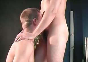 Gay dudes fuck each other not far from the asshole for some tube movie