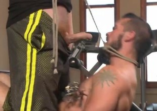 Muscled Gym Rat Gambol and Fisted