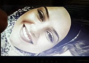 Tribute on hot hijab slut :)
