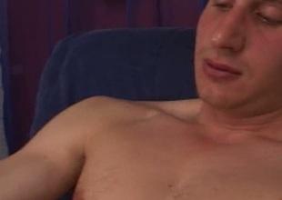 Gay gets pleasant handjob
