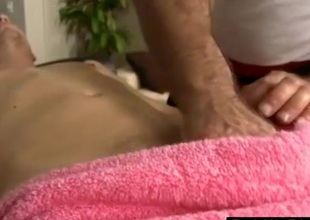 Jubilant sucks dick during massage