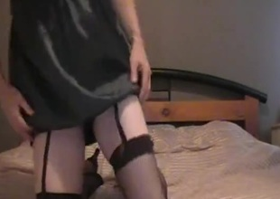 Horny crossdresser unsurpassed webcam show