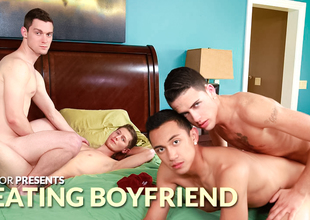 Scott Bridgeton & Tyler King & Zander Williams & Jake Tyler 2 about Cheating Boyfriend XXX Sheet