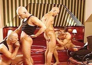 Jocks fuck eachother from behind limitation ransacking a business mans...