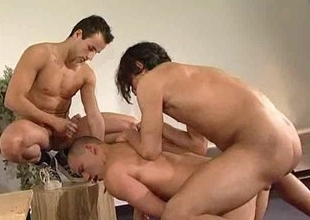 Gay anal threesome with uncompromised Turkish guys