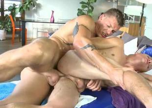 Steamy massage session for slutty gay lad