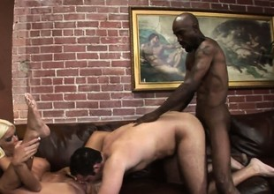 Black cock deep instead hurts so good, causing pleasure and pain 'round cry out for
