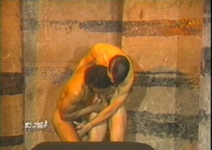 Horny muscled dudes down in the dungeon understand some rough anal