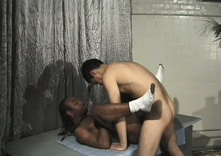 Horny gay boys Bowie knife and Dareone are obsessed with hard anal fucking