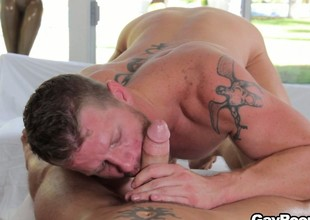Shane Frost got his cock sucked and is ready to saddle his fuck mingle with
