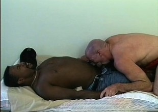Muscular interracial couple obtain rough and nasty on each other's poles