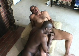 A couple of muscled insidious hunks do some through-and-through deep anal pounding