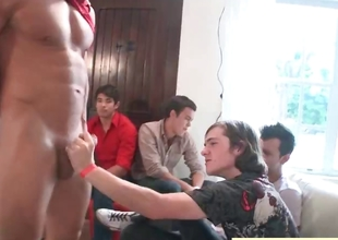 Horny gang having gay sausage federate