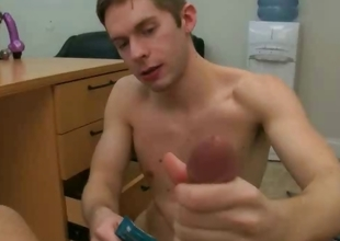 Teen boy jerking a cock with irritant