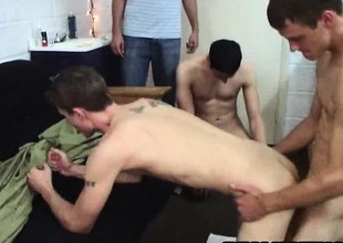 Frat boy prevent a rough out gets hazed with some anal sex