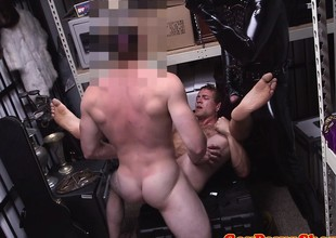Pawnshop gaybait gets cumshot for quick cash