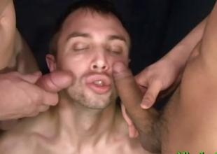 Amazing athlete gay threesome