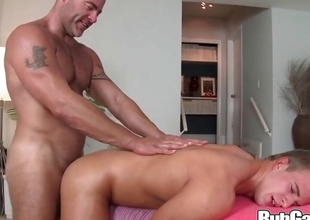 Gay stud wants marginally posterior meat as he drills his New Zealand ass