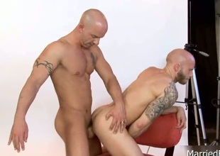 Awesome bald girder fucked abysm in ass