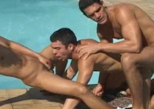 Hard Ass Pounding In Hot Gay Threesome