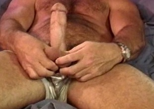 CBT Muscle bear self ball punishment.