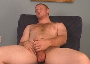 Ginger gay gets blowjob