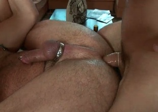 Oiled up astonishing deny stuff up gets massage