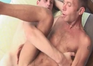 Extreme Bareback Fucking with Cum Blast adjacent to the Pain in the neck