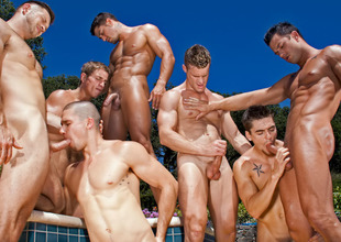 Marcus Mojo & Paul Wagner & Cody Cummings & Anthony Romero & Johnny Torque & Landon Conrad & Lawcourt Daily in Blown Away! XXX Video