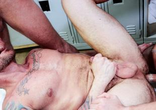 Luke Milan & Hugh Hunter & Dimitri Kane in I Need Big Load of shit Video