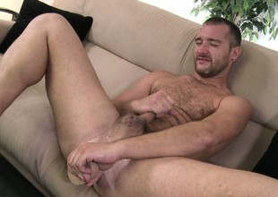 Lucas Allen goes solo with reference to his dildo and rides it up his ass