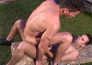 Gay Bung up Brace Pounding Tight Ass Outdoor