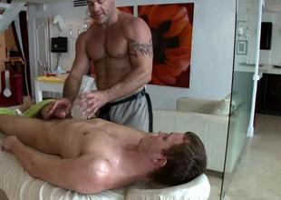 Hawt massage session for homosexual guy