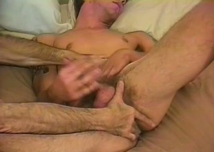 Johnny Thrust shows off his ass as he wanks his throbbing meat