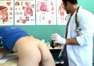 Twink goes in for an exam and gets his ass checked out by the doctor