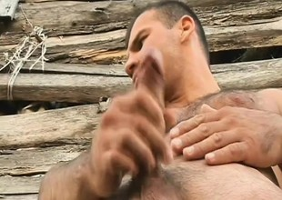 Hung gay farmers give their horny buddies a chubby piece of man-meat