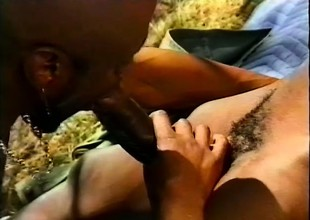 Black, gay threesome parts with some hard pest pounding simulate