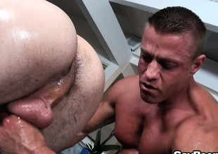 Be passed on masseur pounds that anal crack from behind before cumming on that ass