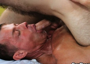 Chad Hunter and his jubilant fuck buddy enjoying oral and anal sex